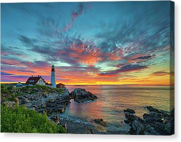 Canvas Print featuring the photograph Maine The Way by Juergen Roth