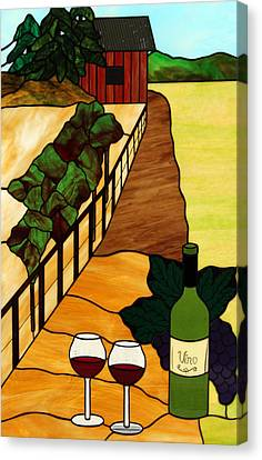 Maine Vineyard Canvas Print by Jane Croteau