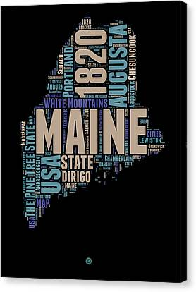 Maine Word Cloud 1 Canvas Print