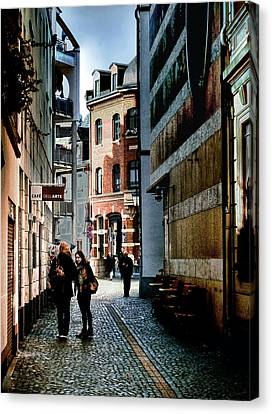 Canvas Print featuring the photograph Mainz Badergasse by Jim Hill
