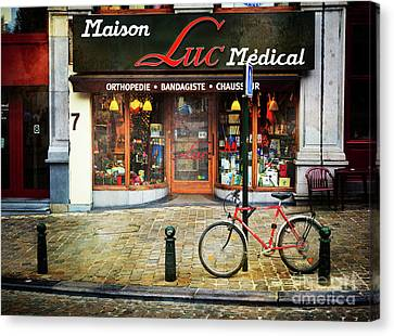 Canvas Print featuring the photograph Maison Luc Bicycle by Craig J Satterlee