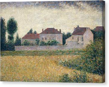 Maisons Blanches  Canvas Print by Georges Pierre Seurat