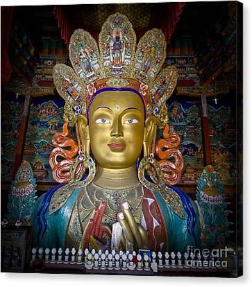 Maitreya Buddha Canvas Print by Hitendra SINKAR