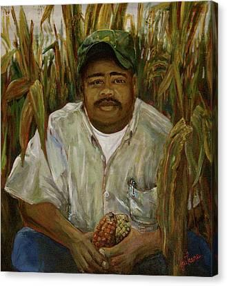 Maize Farmer Canvas Print by Linnie Aikens