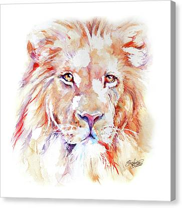 Majestic African Lion Canvas Print by Stephie Butler