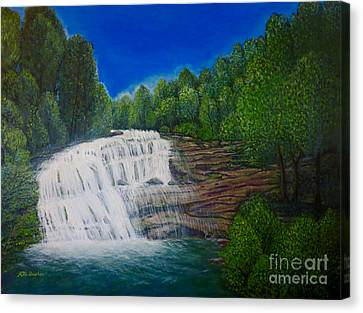 Majestic Bald River Falls Of Appalachia II Canvas Print by Kimberlee Baxter