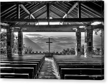 Smokey Mountains Canvas Print - Majestic Beauty Pretty Place Chapel Bw Symmes Chapel Art by Reid Callaway