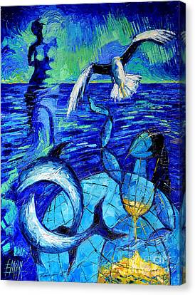 Majestic Bleu Canvas Print by Mona Edulesco