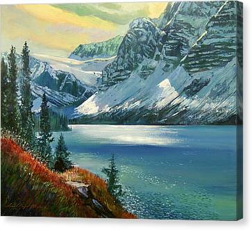 Majestic Bow River Canvas Print by David Lloyd Glover