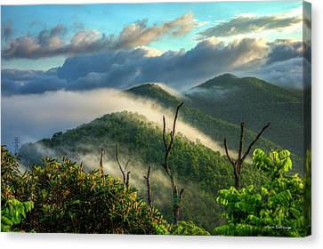 Majestic Clouds Blue Ridge Parkway Smoky Mountains Art Canvas Print