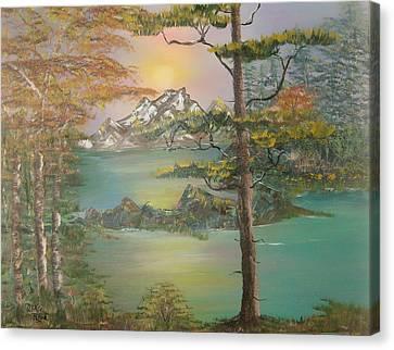 Majestic Cove Canvas Print by Mikki Alhart