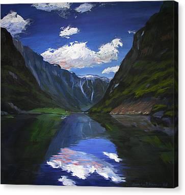 Majestic Fjords Canvas Print