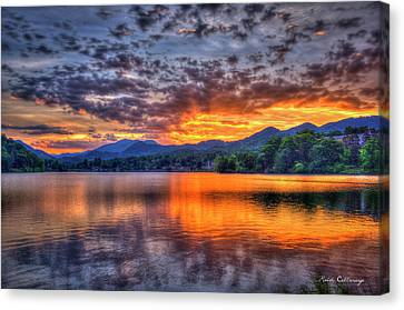 Majestic Glory Lake Junaluska Sunset Blue Ridge Mountains North Carolina Canvas Print