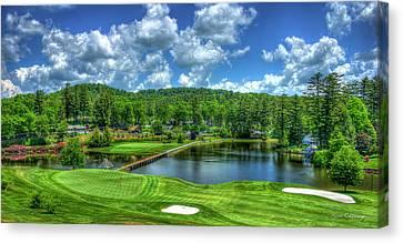 Majestic Golf Highlands Country Club Golf Art Canvas Print by Reid Callaway