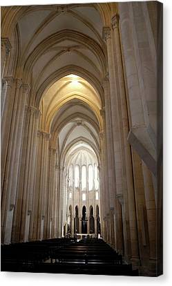 Canvas Print featuring the photograph Majestic Gothic Cathedral In Portugal by Kirsten Giving