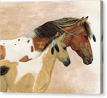 Majestic Horses Mare Foal Canvas Print by AmyLyn Bihrle