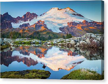 Reflecting Water Canvas Print - Majestic Kulshan by Inge Johnsson