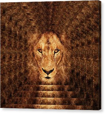 Majestic Lion Canvas Print by Anton Kalinichev
