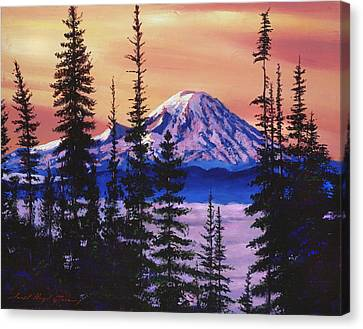 Majestic Mount Baker Canvas Print by David Lloyd Glover