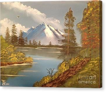 Majestic Mountain Lake Canvas Print by Tim Blankenship