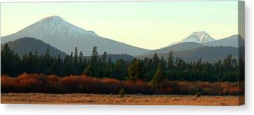 Majestic Mountains Canvas Print by Terry Holliday Giltner