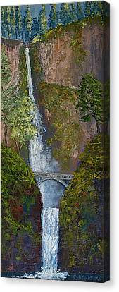 Majestic Multnomah Canvas Print by Ron Smothers