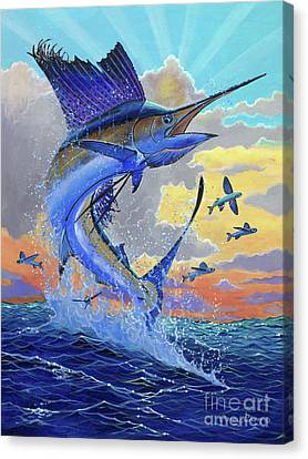 Majestic Sail Canvas Print by Carey Chen
