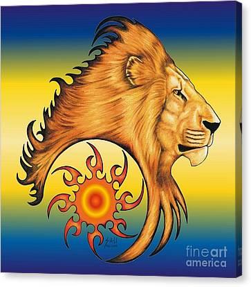 Majestic Soul Canvas Print by Sheryl Unwin
