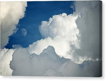 Majestic Storm Clouds With Moon Canvas Print