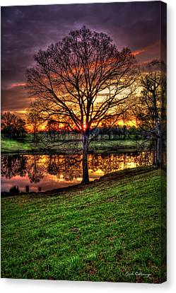 Canvas Print featuring the photograph Majestic Sunrise Reflections by Reid Callaway