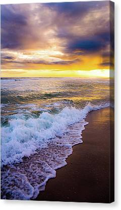 Majestic Sunset In Paradise Canvas Print by Shelby Young