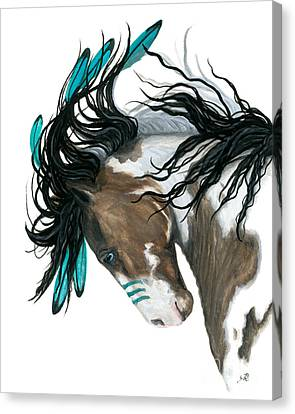 Majestic Turquoise Horse Canvas Print by AmyLyn Bihrle