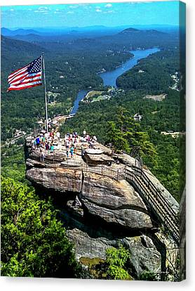 Majestic View Chimney Rock North Carolina Canvas Print by Reid Callaway