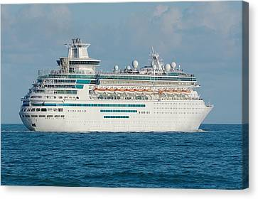 Canvas Print featuring the photograph Majesty Of The Seas Cruise Ship by Bradford Martin