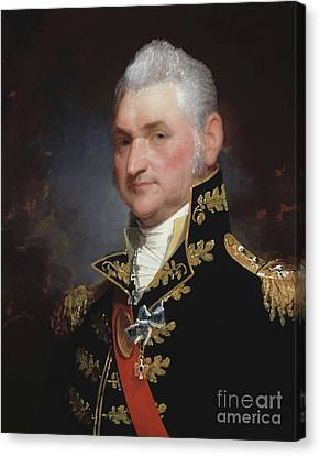 Major General Henry Dearborn Canvas Print by Gilbert Stuart