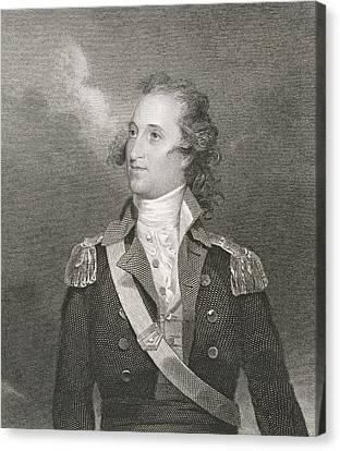 Major General Thomas Pinckney Canvas Print by John Trumbull