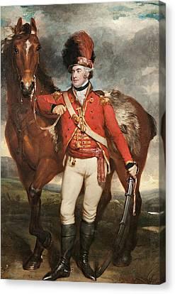 Shea Canvas Print - Major O'shea Of The Loyal Cork Legion by Martin Archer Shee