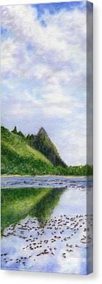 Makana Reflection Canvas Print by Kenneth Grzesik