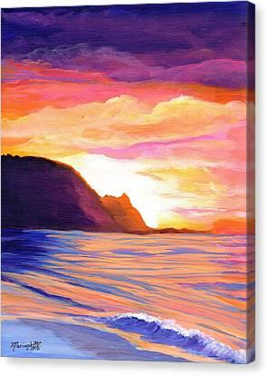 Makana Sunset Canvas Print by Marionette Taboniar
