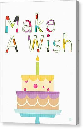 Kids Card Canvas Print - Make A Wish- Art By Linda Woods by Linda Woods