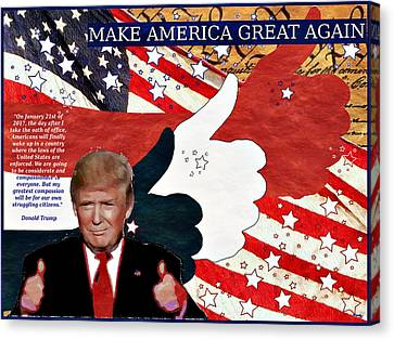 Make America Great Again - President Donald Trump Canvas Print by Glenn McCarthy Art and Photography