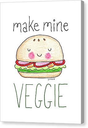 Make Mine Veggie Canvas Print by Ashley Lucas