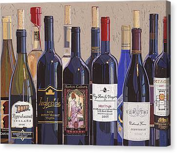 Wine Canvas Print - Make Mine Virginia Wine Number One by Christopher Mize
