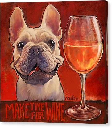 Make Time For Wine Canvas Print by Sean ODaniels