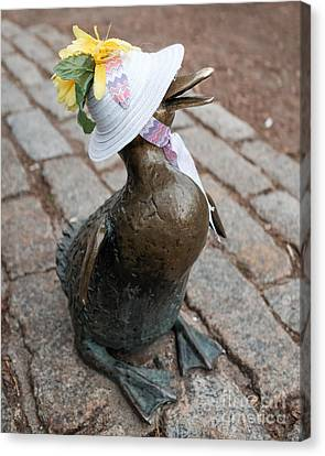 Make Way For Ducklings Canvas Print by Edward Fielding