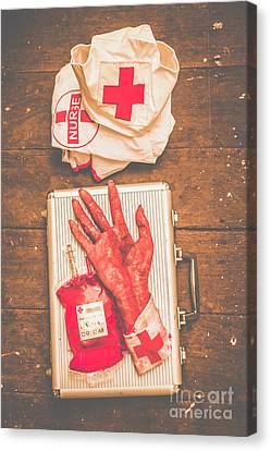 Make Your Own Frankenstein Medical Kit  Canvas Print by Jorgo Photography - Wall Art Gallery