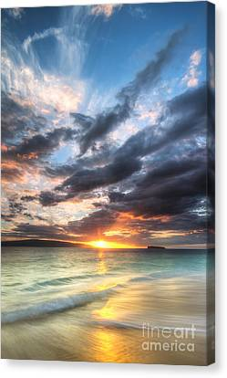 Makena Beach Maui Hawaii Sunset Canvas Print by Dustin K Ryan