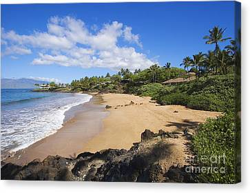 Makena, Changs Beach Canvas Print by Ron Dahlquist - Printscapes