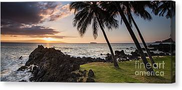Canvas Print - Makena Sunset Maui Hawaii by Dustin K Ryan