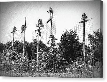 Makeshift Scarecrows Canvas Print